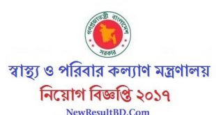 Health Department Job Circular