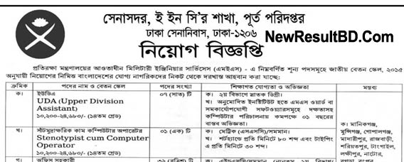 Military Engineer Services (MES) Job Circular 2019