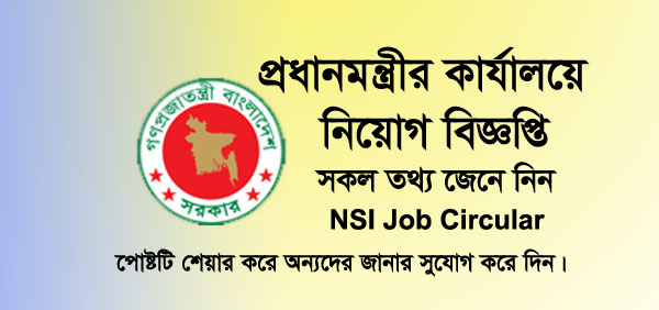 NSI Job Circular 2019, Prime Minister's Office Recruitment Notice, Apply National Security Intelligence Job Application By PMO, 1394 Vacant Posts. Govt. Job