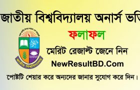 National University Admission Result 2019, NU Admission Result, NU Honours Admission 1st Merit, 2nd Merit, 3rd Merit, NU Honours College admission Result.