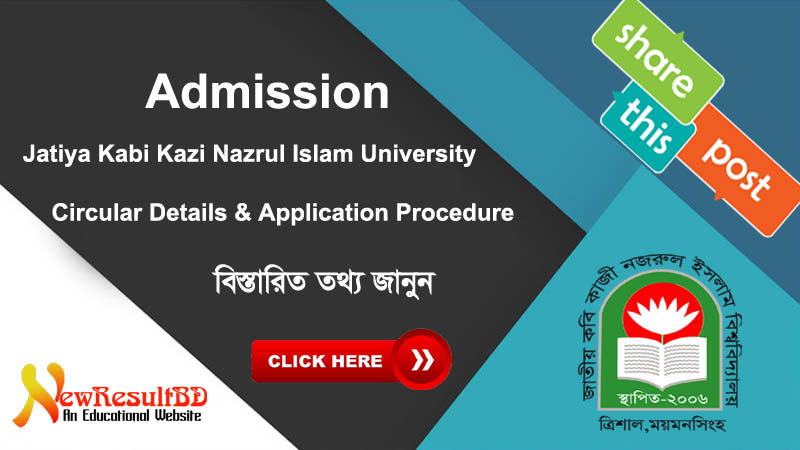 Jatiya Kabi Kazi Nazrul Islam University (JKKNIU) Admission Circular 2019