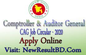 Comptroller And Audiror General Job Circular