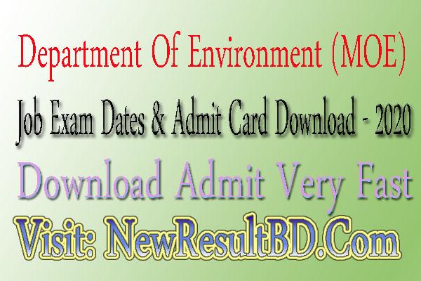 DOE Admit card