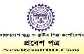 BSCIC Admit Card 2020