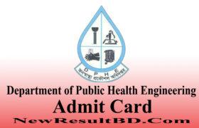 DPHE Admit Card 2020