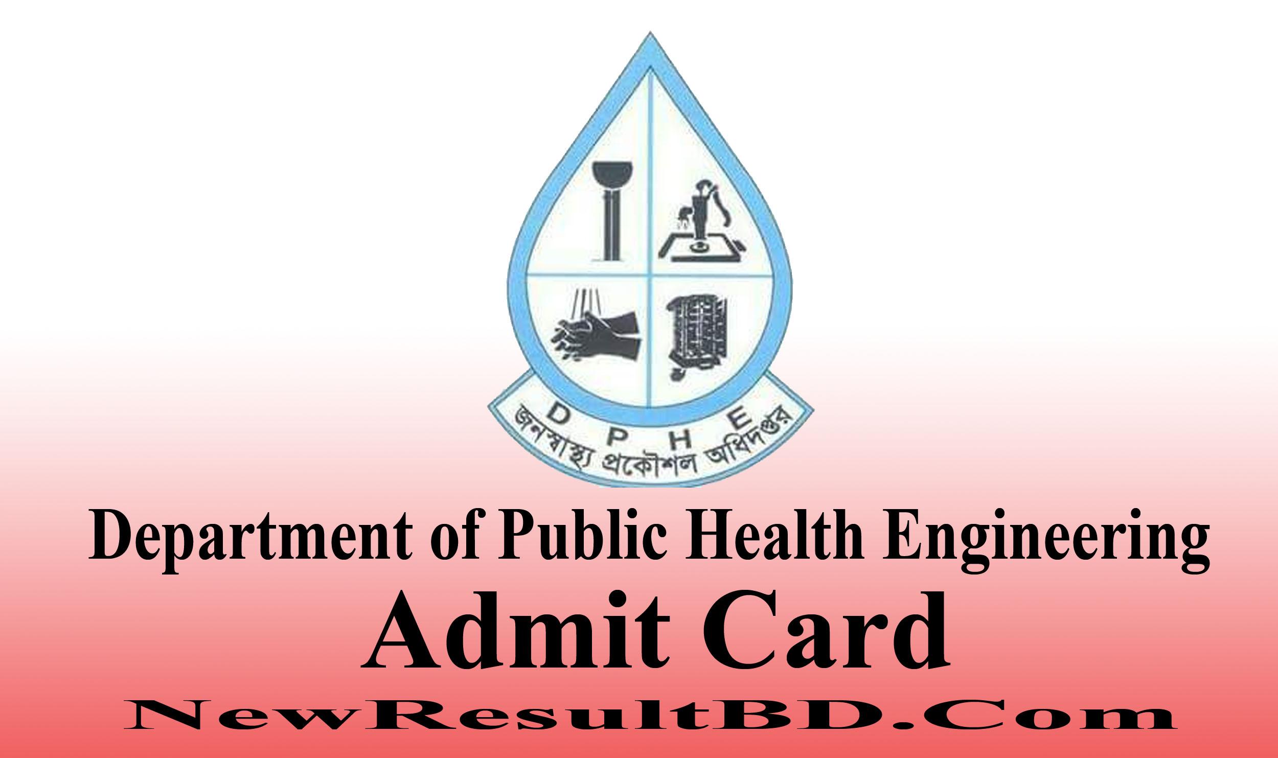 DPHE Admit Card 2021