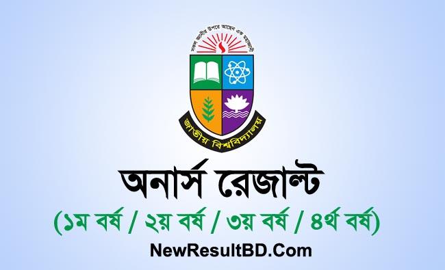 Honours Result 2021, NU Honours Exam Result, NU.AC.BD