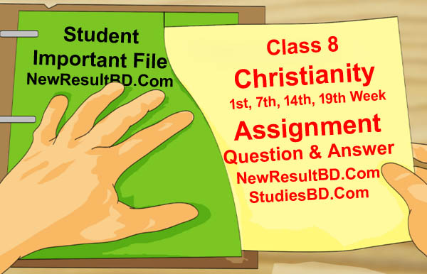 Class 8 Christianity Assignment Answer