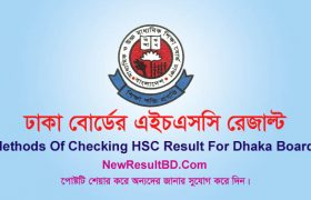 Dhaka Board HSC Result 2020 With Marksheet, All Methods of Checking HSC Result 2020 Dhaka Board. Subject wise number/grade/mark. EIIN, SMS.