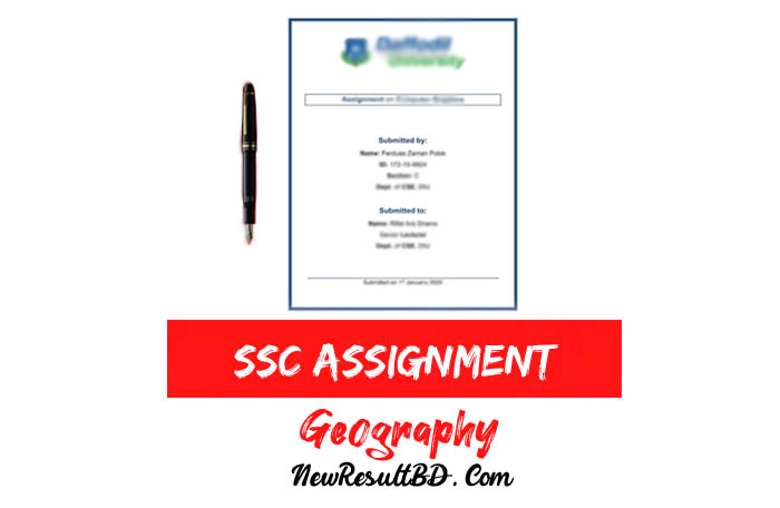 SSC Geography Assignment
