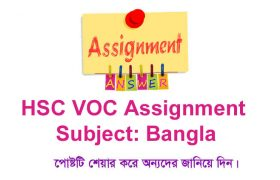 HSC Vocational Bangla Assignment Answer