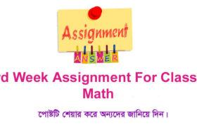 Class 6 Math 3rd Week Assignment Answer