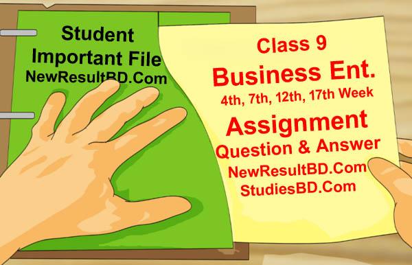 Class 9 Business Entrepreneurship Assignment Answer