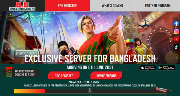 Garena Free Fire Bangladesh Server Lunching Date With Pre Registration & Cancellation