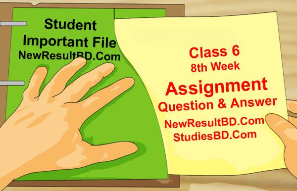 Class 6 8th Week Assignment