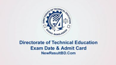 Directorate of Technical Education (DTE) Exam Date & Admit Card
