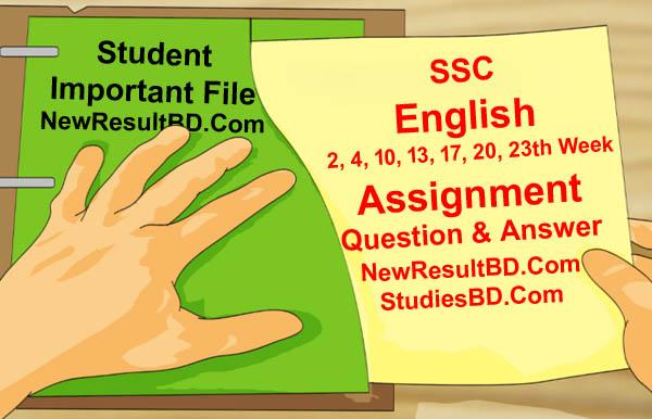 Class 10 SSC English Assignment Answer