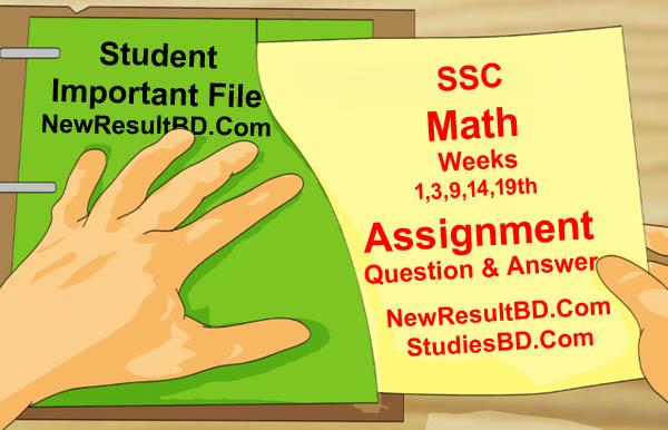 Class 10 SSC Math Assignment Answer