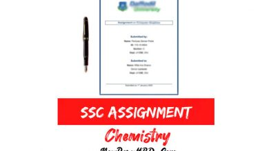 SSC Chemistry Assignment
