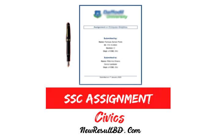 SSC Civics Assignment