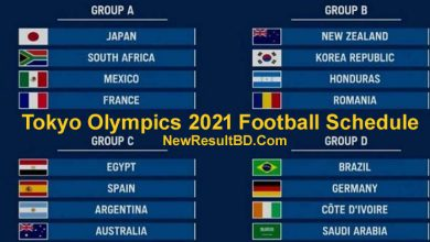 Olympics 2021 Football Fixture, Schedule In Bangladesh Date & Time
