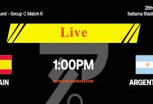 Watch Online Argentina Vs Spain Live Streaming