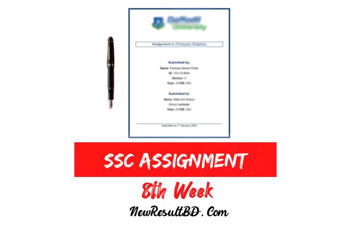 SSC 8th Week Assignment